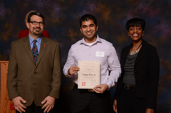 Titus is a three-time recipient of the Certificate of Recognition for Contributions to Students awarded by the UNL Teaching Council and Parents Association.