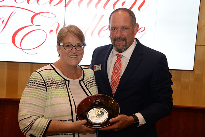 Marcie Warner was recognized for her strengths and service prior to retirement from the School of Accountancy.