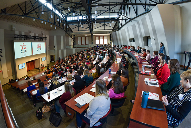 The conference brought more than 320 women together at Nebraska Innovation Campus to empower women in the workplace.
