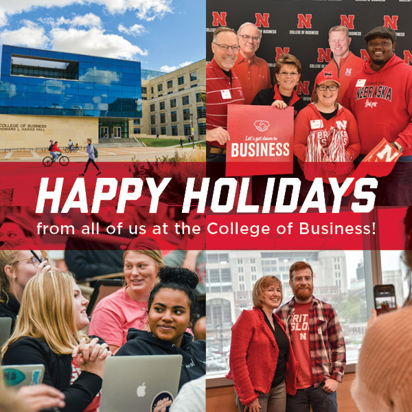 Happy Holidays from all of us at the College of Business!