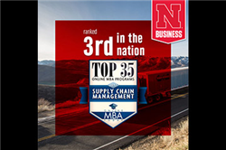 UNL Online MBA Program Ranked Third for Supply Chain Management