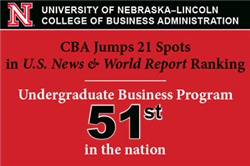 CBA Climbed 21 Spots in Latest U.S. News Undergraduate Business Programs Rankings