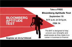 CBA Students Score High Marks on the Bloomberg Aptitude Test