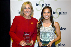Business College Dean Named Woman of the Year; Student Receives Future Business Leader Award
