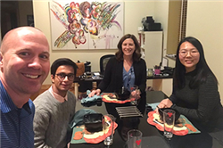 Faculty Host Dinners with International Students