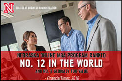 Financial Times Ranks Online MBA No. 12 in the World