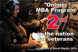Online MBA Program Rated No. 2 for Veterans