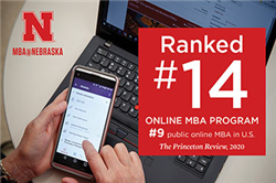 MBA@Nebraska Ranked No. 14 by The Princeton Review