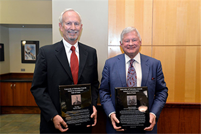 Chronister, Hamm Inducted Into Hall of Fame